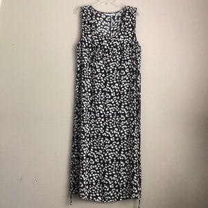 SAG HARBOR animal print sleeveless dress
